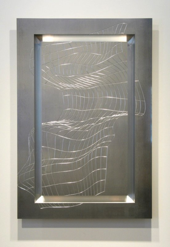 "Christian Eckart, ""Endless Line Painting – CNC Type # 1906,"" 2001"