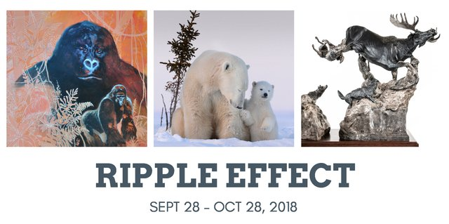 """Hermann Brandt, Debra Garside, Donna Wilson, """"Ripple Effect,"""" 2018"""