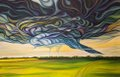 "Jay Bigam, ""Turbulent Skies,"" 2018"