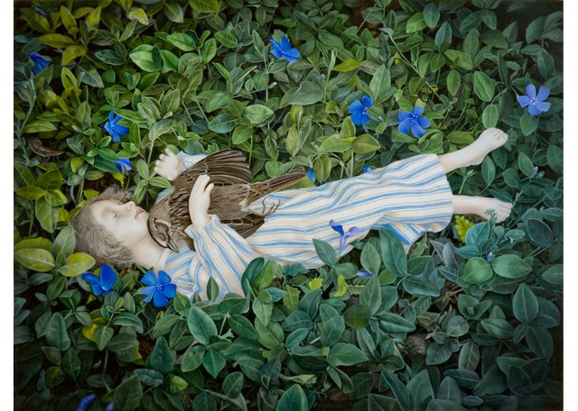 "Marsha Kennedy, ""Pathos in the Periwinkle,"" 2018"