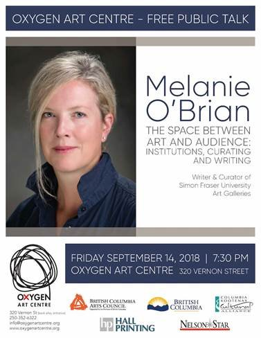"Melanie O'Brian, ""Artist Talk,"" 2018"