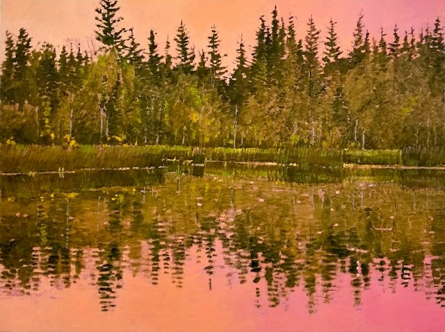 """Darrell Bell, """"Pink Light (End of the Lake),"""" 2018"""
