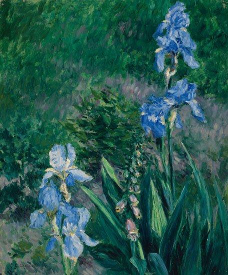 "Gustave Caillebotte, ""Iris bleus, jardin du Petit Gennevilliers,"" 1892"