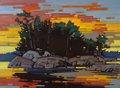 "Cameron Bird, ""MacKenzie Beach Sundown"" 2018"