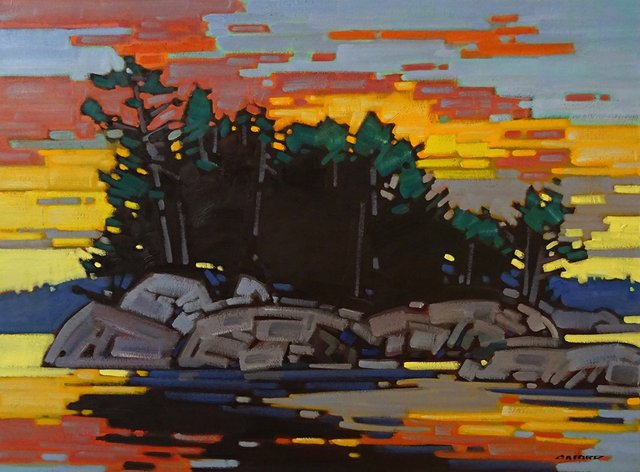 "Cameron Bird, ""MacKenzie Beach Sundown"" 2018"