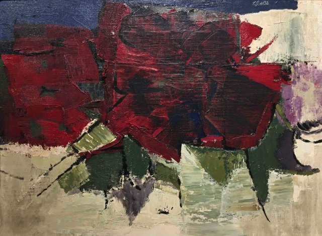 """John  Koerner, """"Red Flower,"""" 1963"""