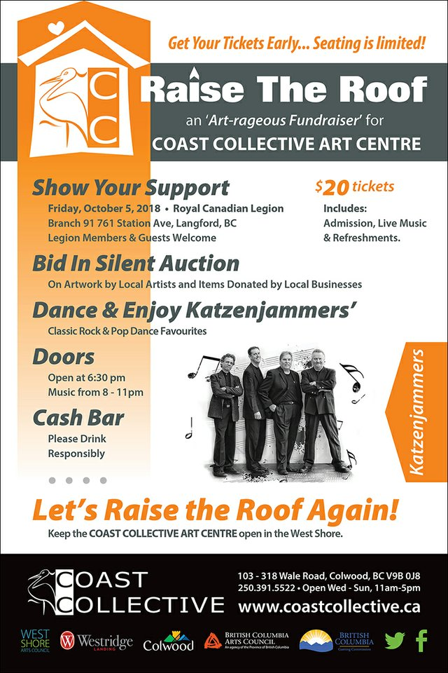 "Coast Collective, ""Raise the Roof Fundraiser,"" 2018"