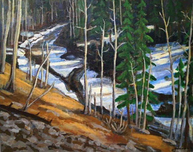 "John Snow, ""Winter Hillside,"" 1974"