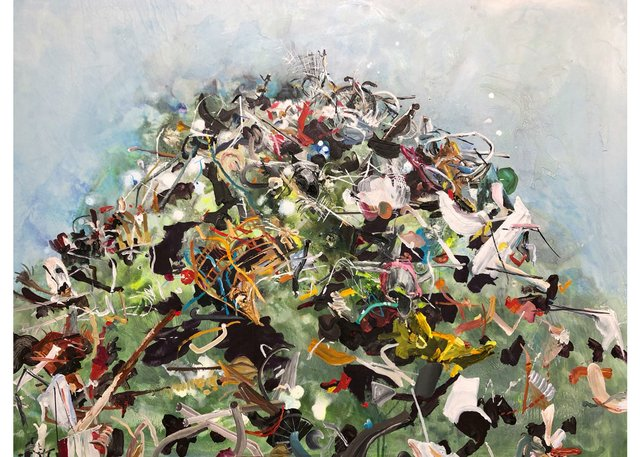 "Lori Golderg, ""Cacophony of Our Debris,"" 2018"