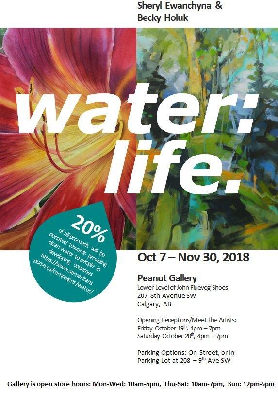 "Sheryl Ewanchyna and Becky Holuk, ""Water:Life,"" 2018"