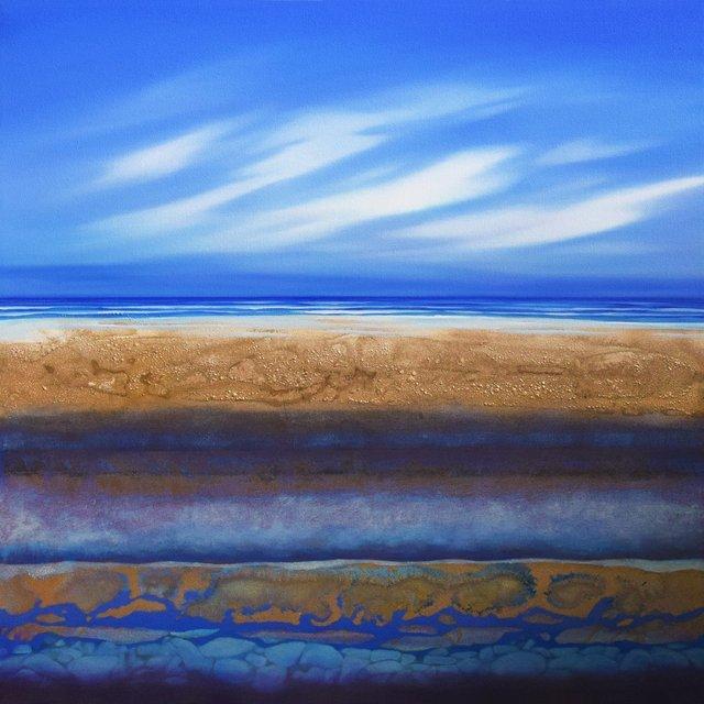 """Kylee Turunen, """"Beach Shore in Blue,"""" no date"""