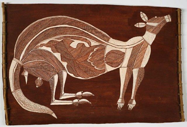 "Dick Nguleingulei Murrumurra, ""Nadulmi the Kangaroo,"" ca. 1970"