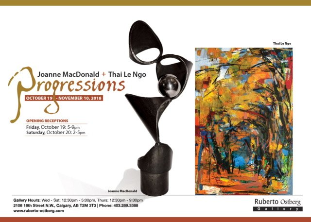 "Joanne MacDonald & Thai Le Ngo, ""Progressions,"" 2018"