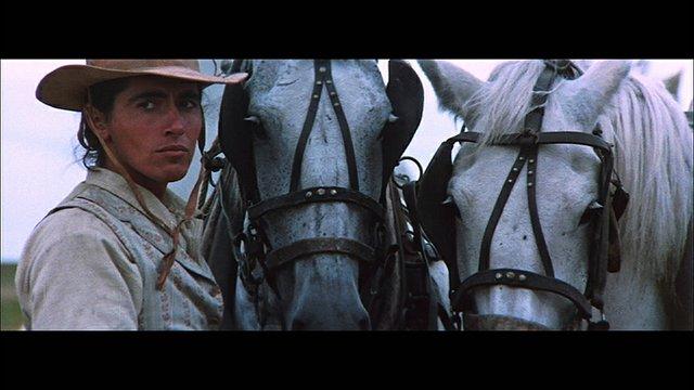"Sarain Stump as Napolean Royal in the film ""Alien Thunder,"" (1973), director Claude Fournier."