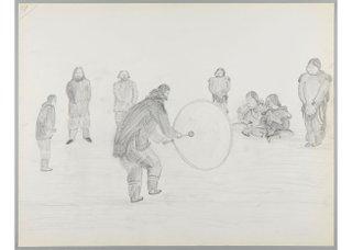 "Cornelius (Kooneeloosee) Nutarak, ""Celebration and Drum Dancing,"" 1964"