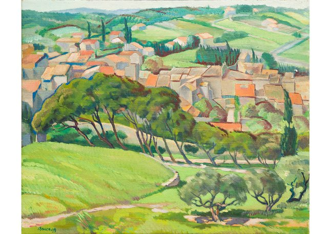 "Robert Bruce, ""Village in Provence,"" 1935-39"