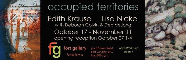 "Edith Krause, Lisa Nickel, Deborah Colvin and Deb deJong, ""Occupied Territories,"" 2018"