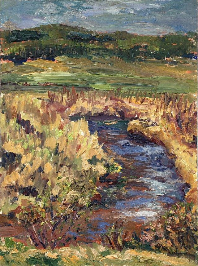 "Arlene Wasylynchuk, ""Spring Rebirth Stauffer Creek,"" nd"