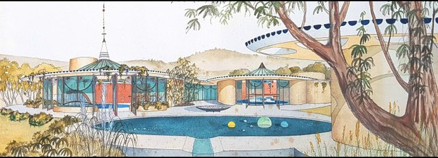 Fred Hollingsworth, Design for a Show House, c. 1960,