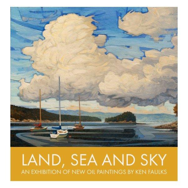 "Ken Faulks, ""Land, Sea and Sky,"" 2018"