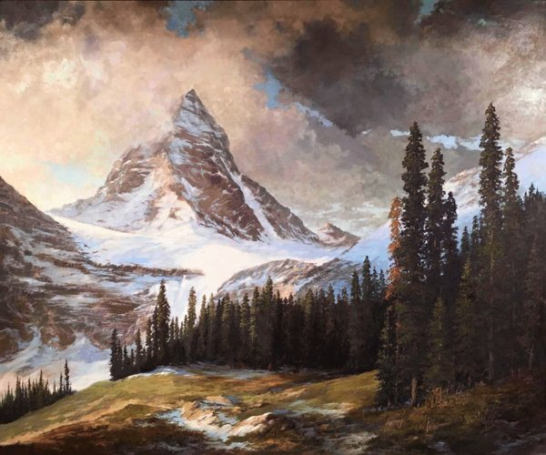 """Norman Brown, """"Mount Assiniboine,"""" nd"""