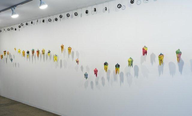 """Eric Cameron, """"Thanatos,"""" 2018, installation view (photo courtesy of TrépanierBaer Gallery, Calgary)"""