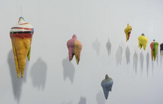 "Eric Cameron, ""Thanatos,"" 2018, detail of installation (photo courtesy of TrépanierBaer Gallery, Calgary)"
