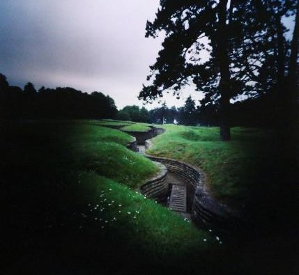 "Dianne Bos, ""Trenches, Canadian National Vimy Memorial, Vimy, France,"" 2014"