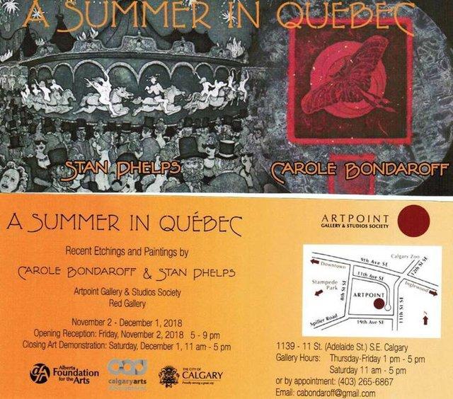 "Carole Bondaroff & Stan Phelps, ""A Summer in Quebec,"" 2018"