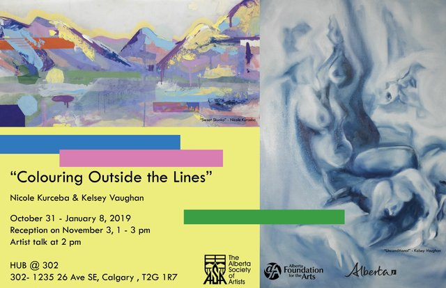 """Colouring Outside the Lines"" by Nicole Kurceba and Kelsey Vaughan"
