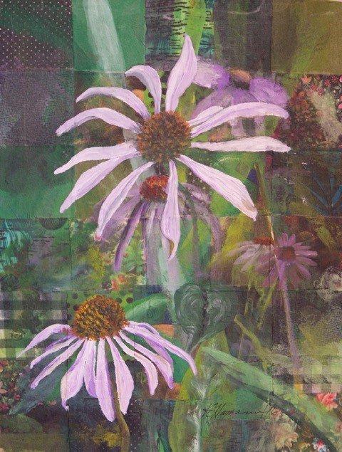 """Kathleen Hamann Buckoski, """"Echinacea,"""" 2016"""