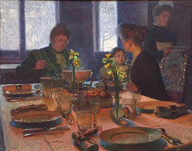"Carl Moll, ""At the Lunch Table,"" 1901"