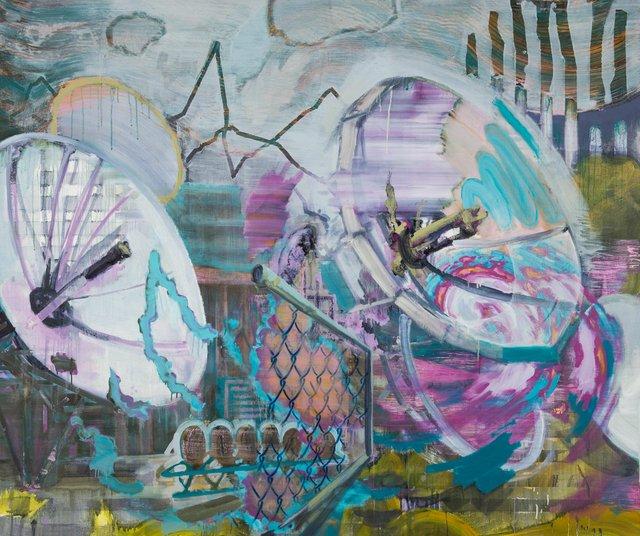 "Edmonton artist Paul Bernhardt's painting ""Communication Breakdown,"" 2009"