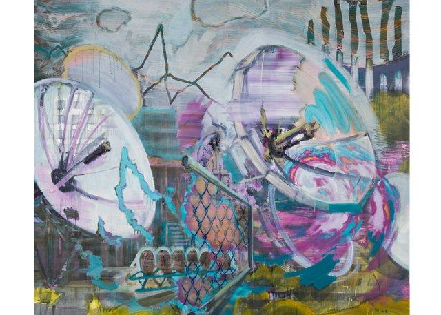 """Alberta-based artist Paul Bernhardt's painting """"Communication Breakdown,"""" 2009"""