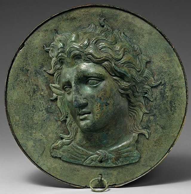 Bronze mirror box with the image of Pan, 4th century BCE.