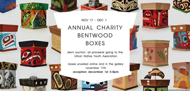 "Lattimer Gallery, ""Annual Charity Bentwood Boxes,"" 2018"