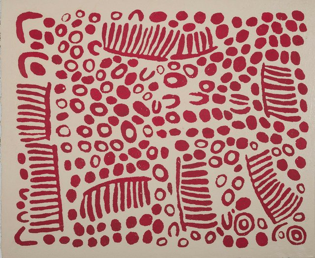 "Wintjiya Napaltjarri, ""Women's Ceremonies at Watanuma,"" 2007"