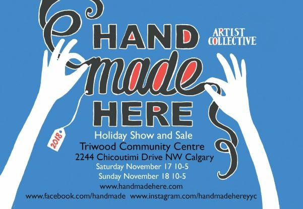 Handmade Here, Holiday show and Sale 2018