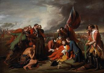 "Benjamin West, ""The Death of General Wolfe,"" 1770"
