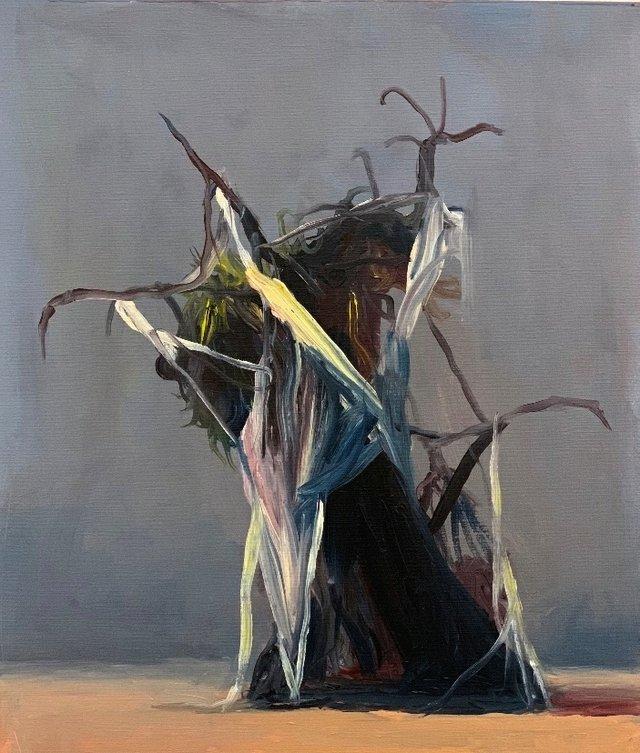 "Joseba Eskubi, ""Untitled No. 6 - Grey and Salmon,"" 2016"