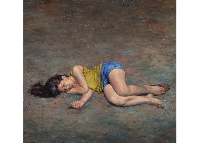 "Jay Senetchko, ""Death of the Reclining Nude,"" 2018"
