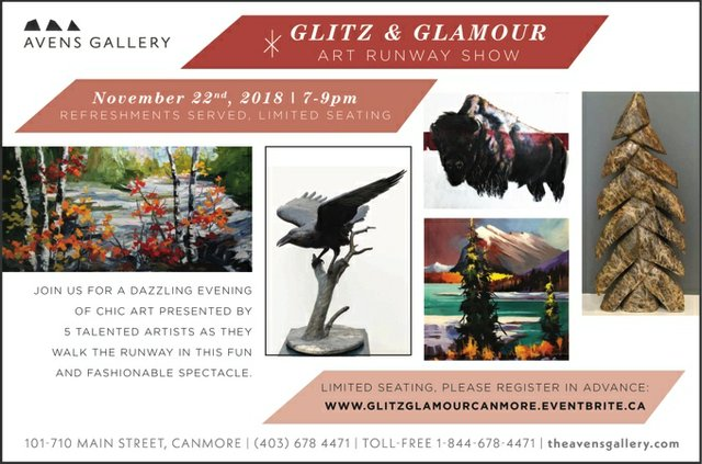 "Avens Gallery, ""Glitz and Glamour,"" 2018"