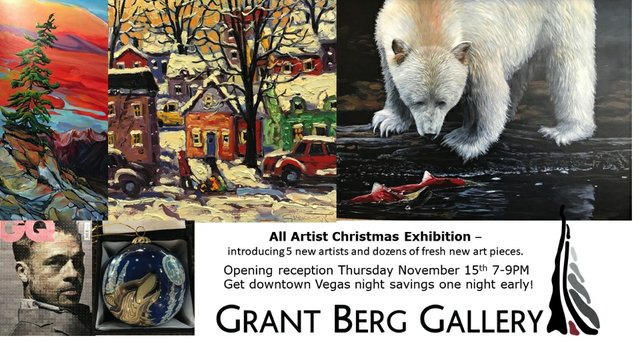 "Grant berg Gallery, ""All Artist Christmas Exhibition,"" 2018"
