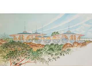 """Fred Hollingsworth, """"Design for a Showhouse,"""" 1963"""