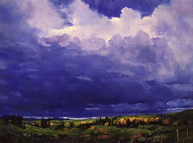 "Jean Geddes, ""Storm Watch, West of Cochrane, AB,"" nd"