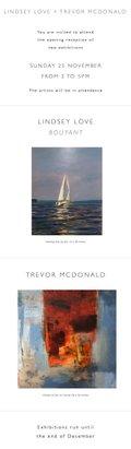 """Darrell Bell Gallery, """"Lidsey Love + Trevor McDonald,"""" 2018"""