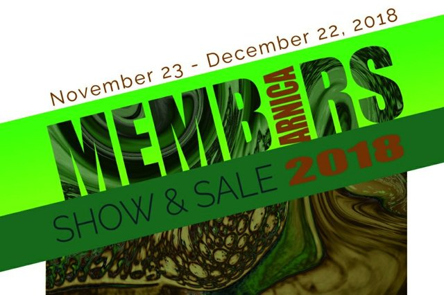 "Arnica Artist Run Centre, ""Members Show and Sale, 2018,"" 2018"