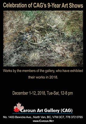 "Caroun Art Gallery, ""Celebration of 9-Year Art Show,"" 2018"