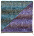 "Angela Teng, ""Diagonal (Blue-Green Violet and Bronze),"" 2018"
