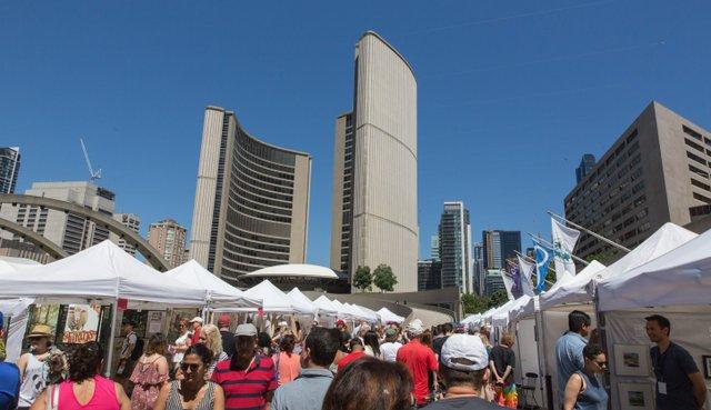 Toronto Outdoor Art Fair at Toronto city hall, July 2018
